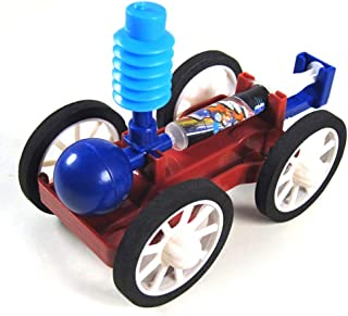 Foreen DIY Air Powered Car Assembly Model Scientific Experiment Educational Kids Toy Party Favor Gifts Toys for Boys Girls Kids Toddlers