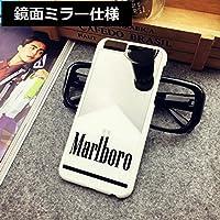 【SHOPPEACEオリジナル】Marlboroマールボロ 鏡面ミラーケース 【iPhone5/5S/SE対応】 (ホワイト)