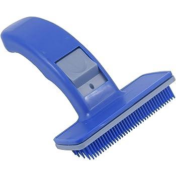Dog Cat Grooming Automatic Pet Trimmer Comb (Blue, Medium)