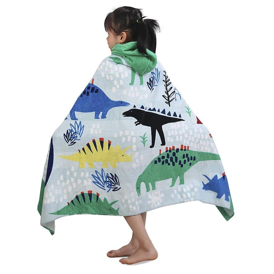 夜明けにのために束YISUN 子供用フード付きバスタオル コットン100% ポンチョバスタオル 恐竜 スーパーソフト 吸水性コットンタオル プレミアムフード付きタオル 男の子 女の子 入浴 水泳 ビーチ 休日 XL 50x30インチ
