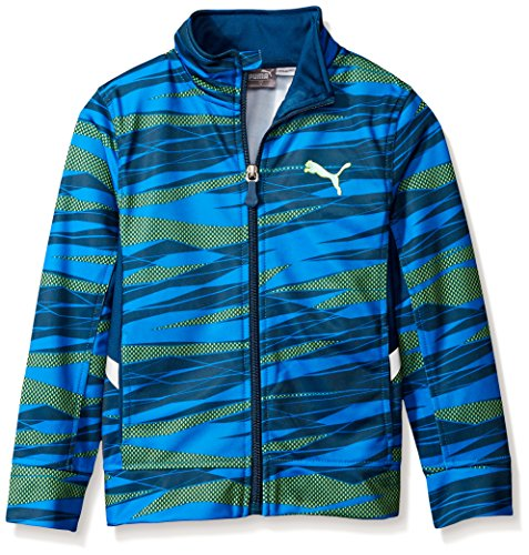 PUMA Big Boys' Active Zip Hoodie, Poseidon, 10-12 (Medium)