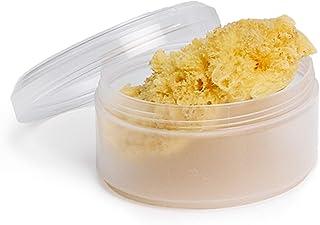Suavinex Esponja Natural del Mar Pequeña Ideal para Recién Nacido con Caja para Guardar Amarillo