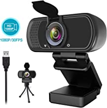 1080P Webcam,Live Streaming Web Camera with Stereo Microphone, Desktop or Laptop USB..