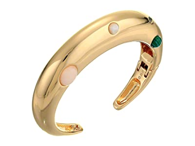 Rebecca Minkoff Chubby Multi Stone Cuff Bracelet (Gold) Bracelet