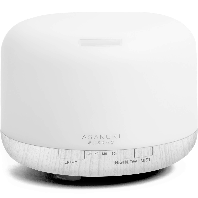 ASAKUKI Ultrasonic Aromatherapy Humidifier Diffuser White