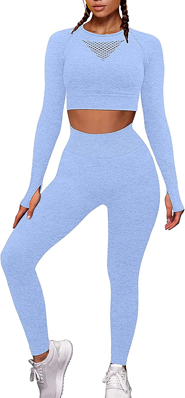 OYS Nashville-Davidson Mall Workout Sets for SEAL limited product Women 2 Seamless High Outfits Piece Y Waist