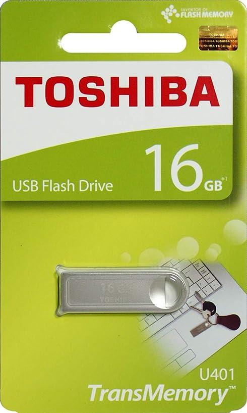 Toshiba USB2.0 Flash Drive 16GB USB 2.0 Flash Disk TransMemory U401 Metal USB Stick (THN-U401S0160A4)