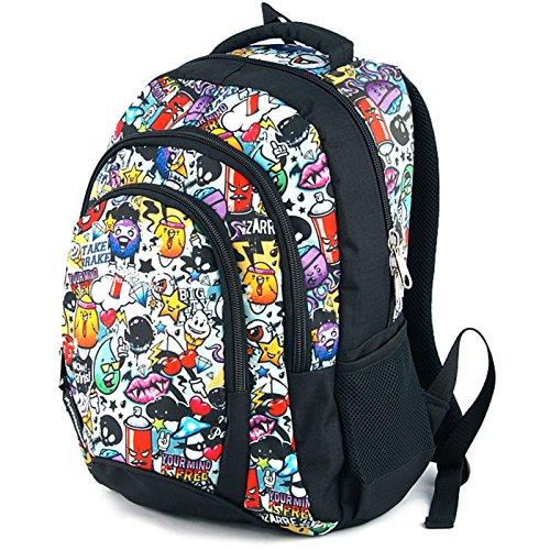 Zaino scuola media per ragazzi e ragazze, realizzato in EU - Premium - yeepSport S114dx (Sprayer)