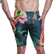 Floral Watermelon Mens Swim Jammer Male Racing Training Swimsuit for Boys
