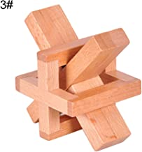 Wooden Blocks Brain Teaser Puzzles, Wooden Puzzle Kongming Luban Lock Brain Teaser Kids Adult Intelligent Toy Gift - Besieged Lock