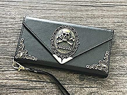 Elephant Envelope Leather Wallet Handmade Phone Wallet Case Cover for Iphone X Xs Xr Xs Max Iphone 8 7 6 6s Plus Samsung Galaxy S7 Edge Galaxy S8 S9 S10 Plus Note 8 Note 9 Mn0112