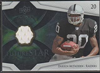 2008 Icons Darren McFadden Raiders Future Star Jersey Football Card #FSM4