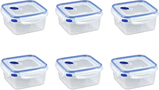 Sterilite 03324706 5.7 Cups Square Ultra-SealTM Container, Pack of 6