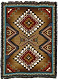 Brazos - XX Large -Southwest Native American Inspired Tribal Camp - Cotton Woven Blanket Throw - Made in The USA (90x60)