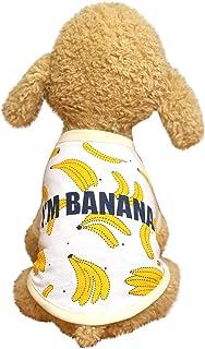 Ropa para Mascotas Dragon868 Vestidos de Verano para Perros Peque/ños Ropa de Gato Mascotas Camisa Informal Vestido con Estampado de Estrellas Vestido de Fiesta de Doble Capa