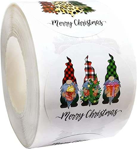 new arrival Merry Christmas Stickers Labels Roll - 1.5 Inch popular 4 Designs Round Christmas Tags 500pcs Self-Adhesive Decorative Envelope Seals Stickers for Cards Gift Envelopes new arrival Boxes (Style A) outlet sale