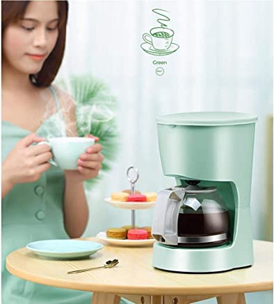 Coffee Machine Home Small Automatic American drip Coffee Pot Shake Good Goods, Coffee/Tea Dual-use,-Green jsmhh (Color : Green)