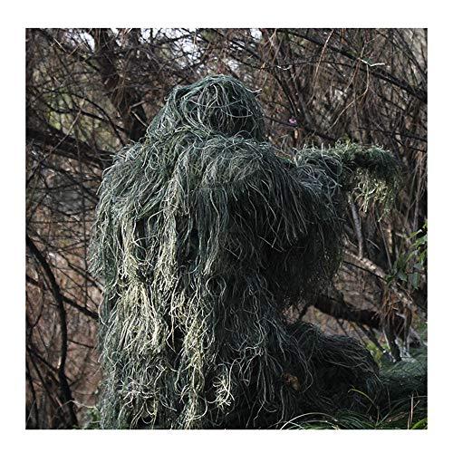 JINGJIE Dschungeltarnung, Ghillie Anzug Trägt Stealth-Verschleiß Und Wind Für Dschungel-Jagd Airsoft Schießen
