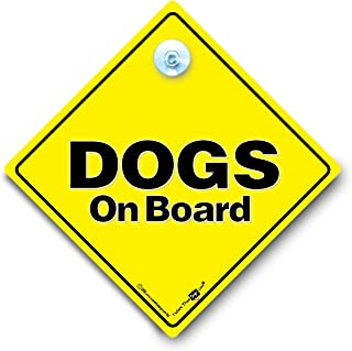 Dogs On Board Sign, Dogs On Board Car Sign, Dogs in Car Sign, Beware of The Dog Sign, Dogs in Vehicle Sign, Dogs in Transit Sign