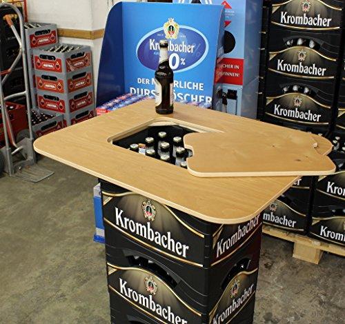 Original BestLoft® Tischaufsatz für Bierkasten – Stehtisch Partytisch Bistrotisch Tischaufsatz 70x58cm (Aufsatz+Servierbrett) - 7