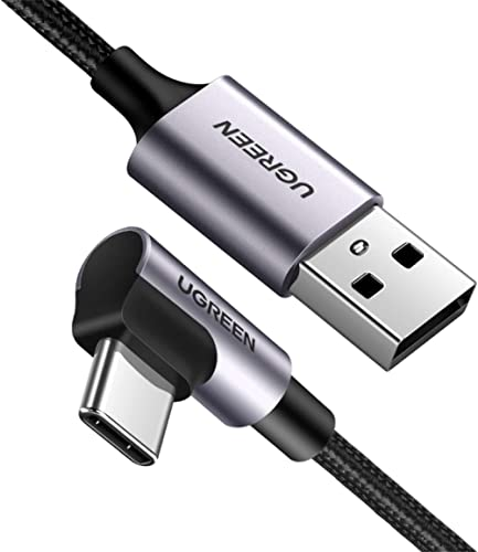 UGREEN USB C Cable Right Angle 90 Degree USB A to Type C Fast Charger Compatible with Samsung Galaxy S20 S10 S9 S8 Pl...