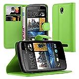 Cadorabo Hülle für HTC Desire 500 in MINZ GRÜN -