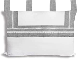 Soleil d'ocre Forever - Cabecero de Cama (algodón, 45 x 70 cm), Color Blanco