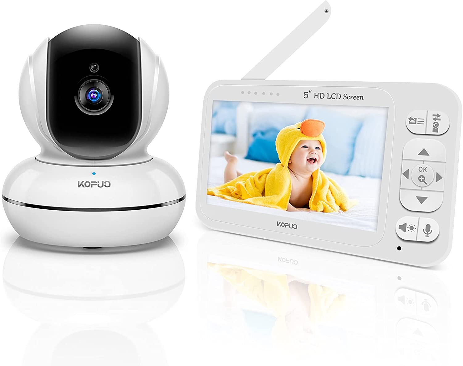 KOPUO Video Baby Monitor with Camera and Audio, 5