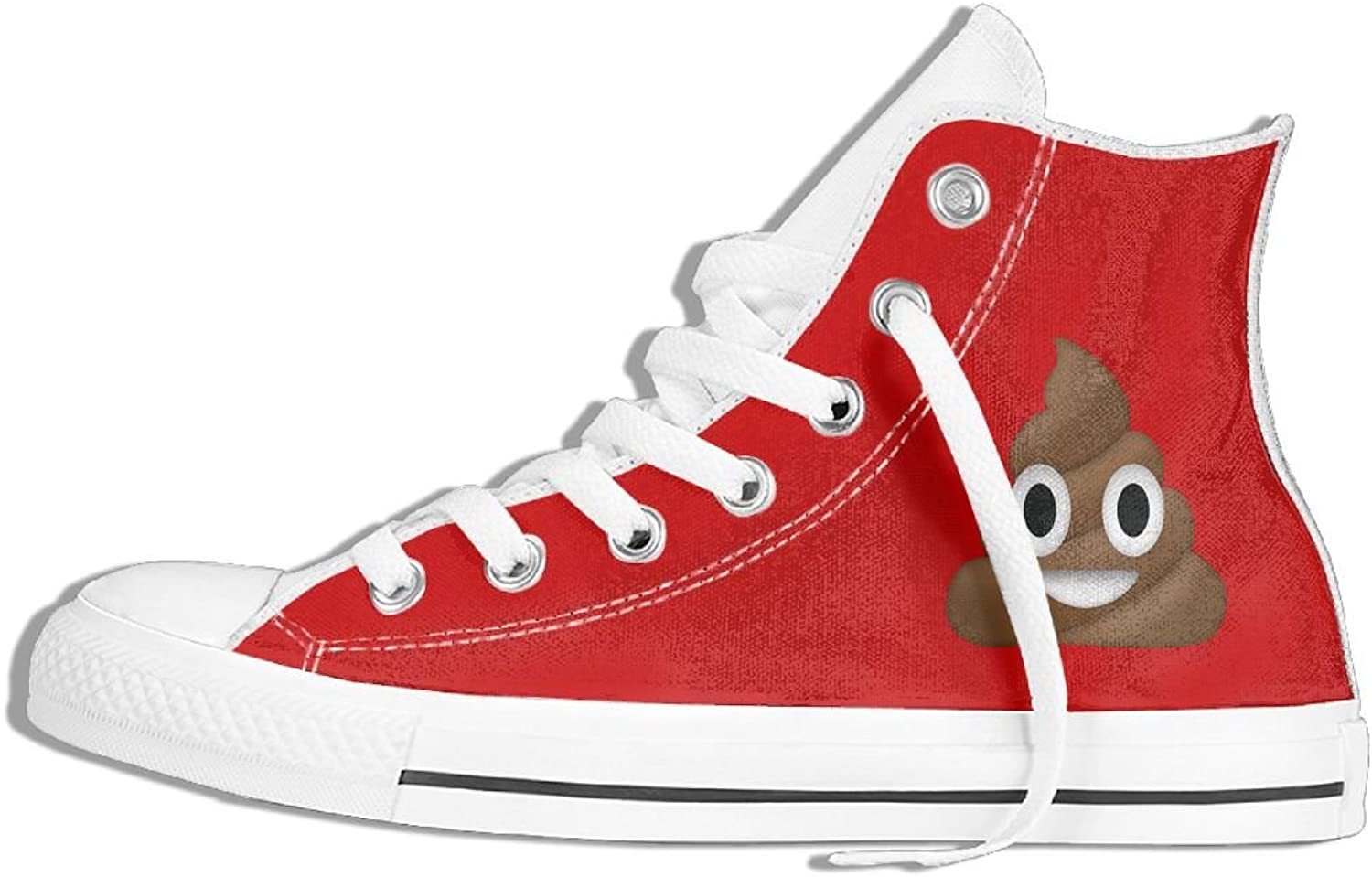 Poop Emoji High Top Classic Canvas Fashion shoes Trainers Sneakers