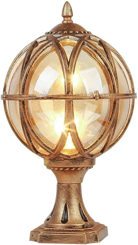 Jstyal968 Yalztc-zyq16 Kreative Spalte Scheinwerfer LED Türpfosten Lichter Hof Wandleuchten Gartenleuchten Startseite Auenleuchten (Farbe   Gold)