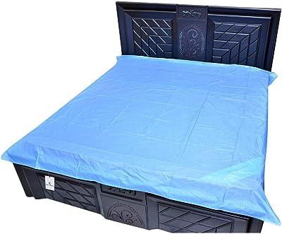 Kuber Industries PVC Double Bed Mattress Protector Sheet, Blue, 6.5 * 6 feet - CTKTC22305