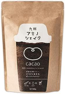 九州アミノシェイク ソフトプロテイン 300g 植物性原料100% 九州産 モリンガ きな粉 ソイプロテイン プロテイン (カカオ味 1袋) 大豆タンパク質