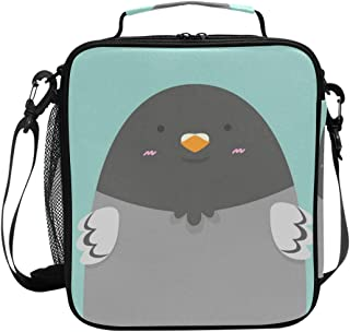 Premium Insulated Lunch Bag with Shoulder Strap | Cute Big Fat Pigeon Bird Lunch Box for Adults, Kids |Lunch Cooler for Office, School