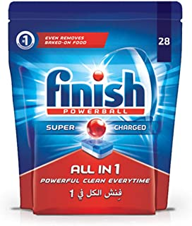 Finish Dishwasher Detergent Tablets, All in One Regular, 28s