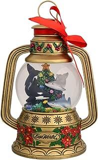 SeaWorld Christmas Gold Lantern Snow Globe