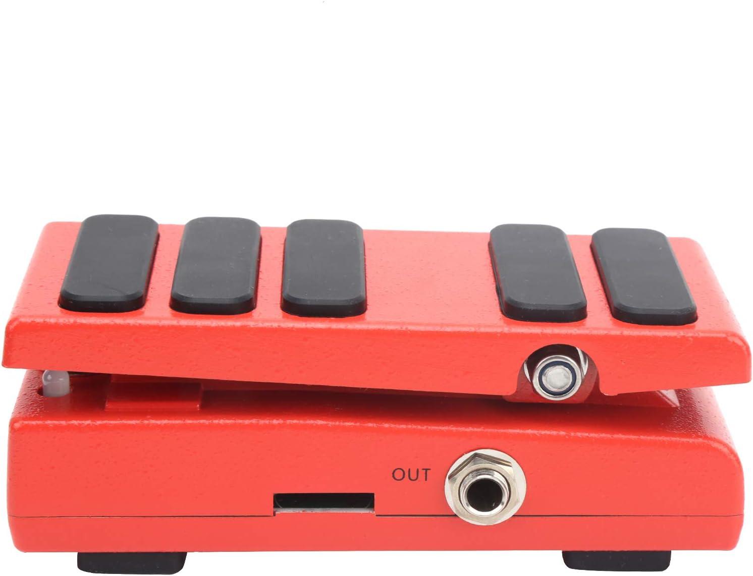 Pedal Wah-Wah Interruptor de pedal Pedal de efecto Tamaño pequeño y peso ligero Diferentes selecciones de modo, para accesorios de instrumentos, para mayor comodidad(rojo)