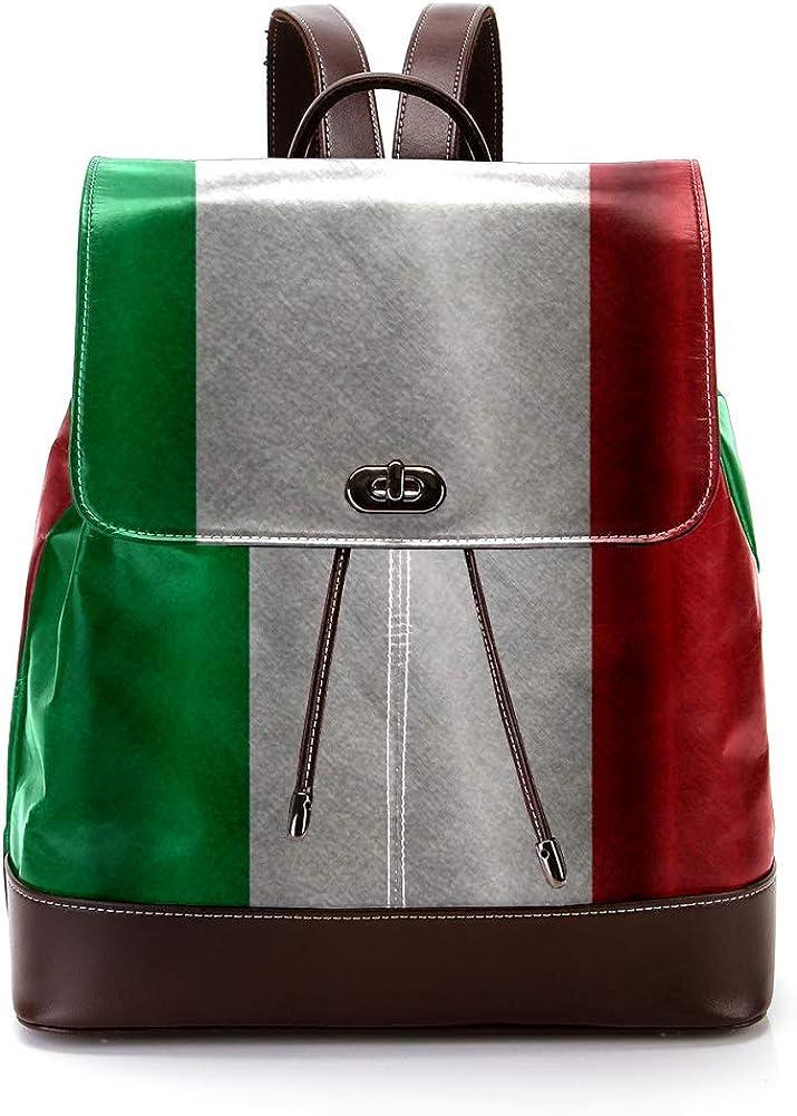 Italy PU Leather Backpack Fashion Shoulder Bag Rucksack Travel Bag for Women Girls