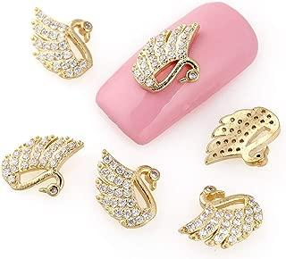 2 Pcs Glitter Gold Nails Art Rhinestone DIY Professional Crystals Beads Finger Designs Pleasing Popular Small Acrylic Gel Holiday Decor Kids Tools Kits