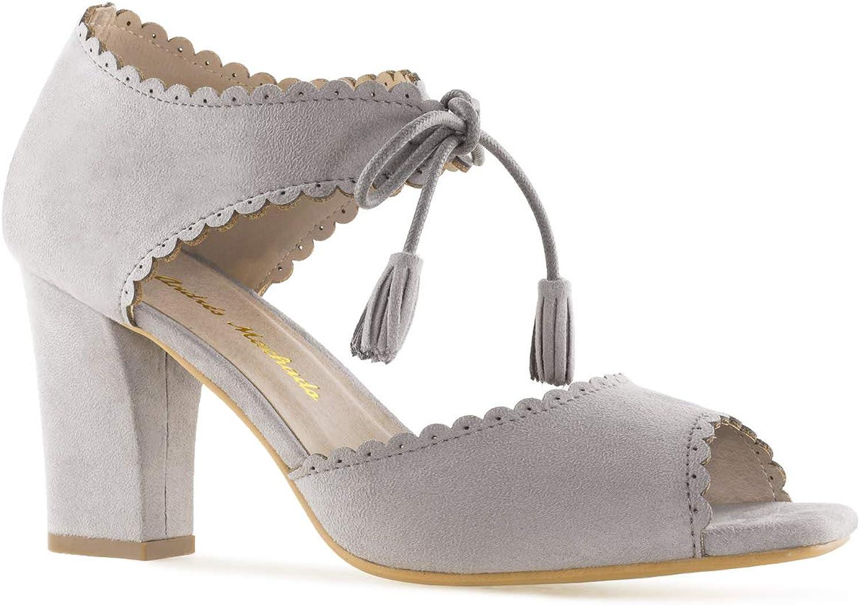 Andres Machado - AM5331 - Sandaletten aus Velourleder mit Quasten.EU 32 bis 35 42 bis 45    Sonderaktionen zum Jahresende    New Listing    Der neueste Stil