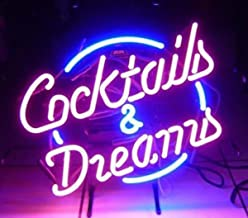 LDGJ Dreams Neon Light Sign Home Bar Pub Recreation Room Game Lights Windows Glass Wall Signs Party Birthday Bedroom Bedsi...