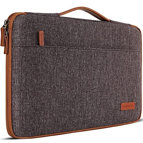 DOMISO 10 pulgada Funda para con tableta de con asa Bolsa de transporte portátil para de 9.7'10.5'11'iPad Pro/10.5'iPad Air/Microsoft Surface Go 2018/Samsung Galaxy Tab S3S4/Lenovo Ideapad D330,Marrón