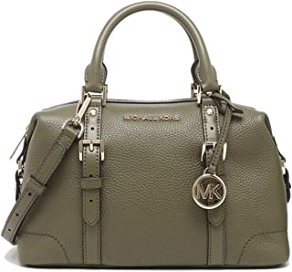 Michael Kors Ginger Small Duffle Satchel Leather Olive