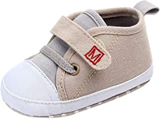 LANSKIRT Zapato de Lona Niña Recién Nacido Niñas Niños Primeros Zapatos para Caminar Zapatitos Primeros Pasos con Letras C...