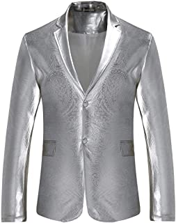jeansian Men's Slim Fit Casual One Button Blazer Jacket Suits JZA127