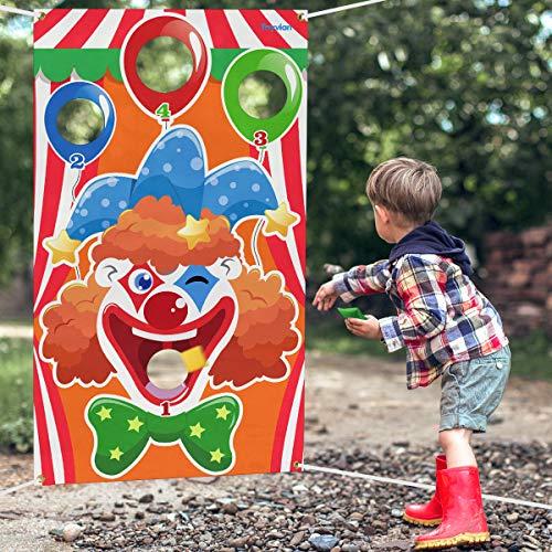 Toyvian Carnival Toss-Spiele mit 3 Sitzsäcken, lustiges Karnevalsspiel für Kinder und Erwachsene bei Karnevalsparty-Aktivitäten, Partydekorationen zu Bauernhoftieren