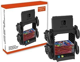 PeakLead Support de Rangement pour Nintendo Switch Games Stockage Tower Homebase Stand avec Tiroir, Cintre pour Switch Doc...