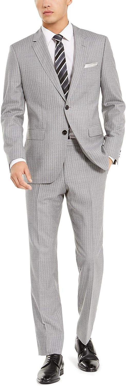 Hugo Boss Men's Modern Slim Fit Suit 2 Piece Luxurious Business 100% Virgin Wool by Hugo