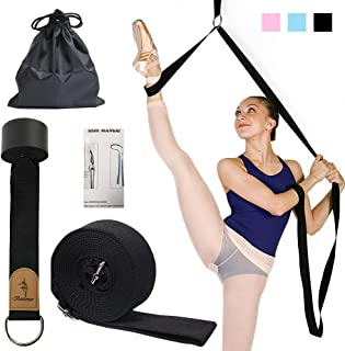 EASTBUDDY Ballet Stretch Band,Door Flexibility & Stretching Leg Strap Stretch Band with Carrying Pouch for Yoga, Ballet, D...