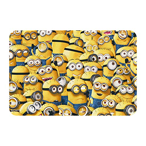 Kids Bath Rugs Minions, Children Kids Bathroom Decor Mat with Non Slip Backing (Yellow1)