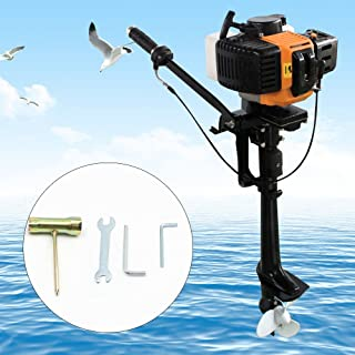 KANING Outboard Motor Engine,3.5 HP 2-Stroke 2.5kw Outboard Motor Engine Inflatable Boat Water,Air Cooling USA Stock CDI System (Air Cooling)